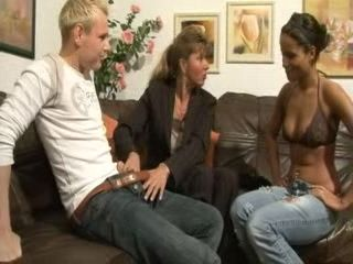 Mother Teaches Teen Daughter How To Fuck