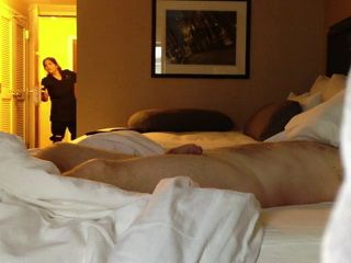 Guy Pretends To Sleep And Flashes Dick To Hotel Maid
