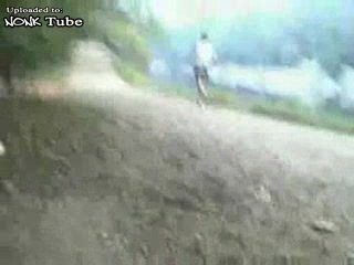 Maniac Intercepting Girls In Park with His Dick Out