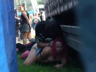 Crazy Public Sex During Concert Of Czech Drunk Couple