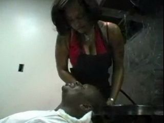 Ebony Hairdresser Offeres A Customer More Than Just A Regular Haircut
