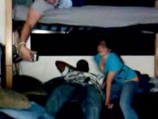 Amateur College Teen Sucks Black Classmates Cock Infront Of Friends In Dorm Room