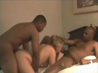 British Mature Fucked by Two Black Guys