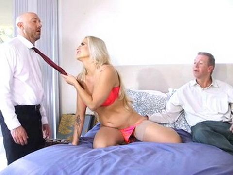 Busty Milf Secretary Fucked By Two Company Directors