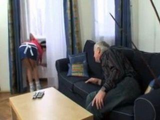 Old Grandpa Prepares To Seduce His New Housemaid