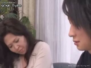 Japanese Boy Attacked and Fucked Busty MILF Stepmother