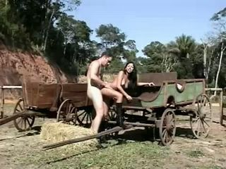 Slutty Farmers Wife Gets Anal Fucked Outdoor