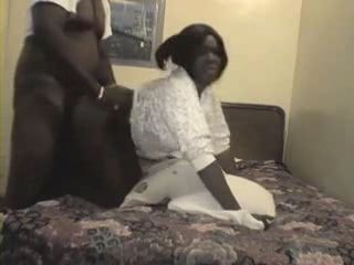 Amateur Mature Big Ass Black Wife Gets Her Pussy Creampied By Her Hubby