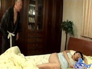Old Japanese Father in Law Sneaks Sleeping Daughter In Law Bedroom To Fuck Her