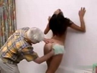 Old Man Use Giving Help Under Shower As Overture To Fuck Her Skinny Ass