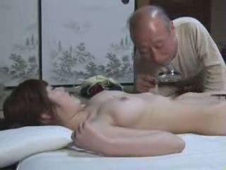 Japanese Teen Girl Gives Grandpa Something To Enjoy In