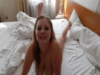 Nice Blowjob In The Bathtub Ends Up With Hard Fucking In Hotels Bed