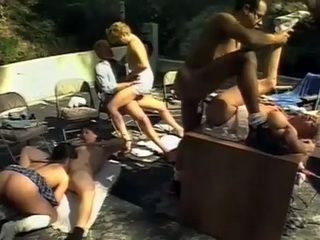 Teaching In The Nature With Lustful Granny Turns Into Group Anal Session