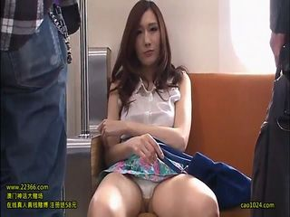Milf Julia Flashing Panties In Subway And Gets Creampied By Stranger