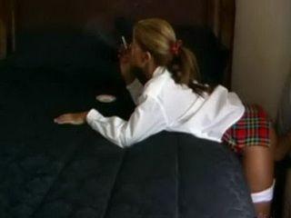 Smoking Teen Gets Hard Doggy