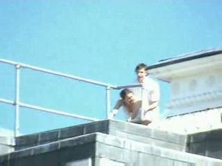 Voyeur Caught Couple Having A Quickie On The Top Of The Building