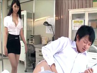 While Visiting Her Friend In Hospital Busty Japanese Girl Caught Him Jerking On Her Photo