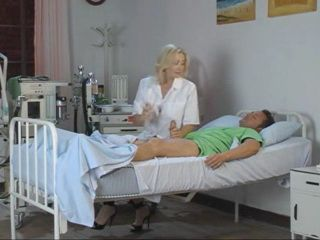 Blond Milf Doctor Gets Dped After She Awakes Patient From Coma