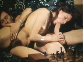 Teen slut taking huge cock in vintage fucking scene
