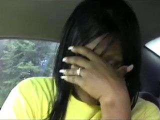 Camera Shy Hot Amateur Ebony Milf Blows In Car and Gets Mouthful