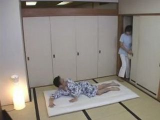 Japanese Masseur in Patients Room