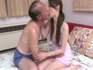 Old Japanese Father Fucking His Sons Wife While Neighbor Spying Them Behind Door