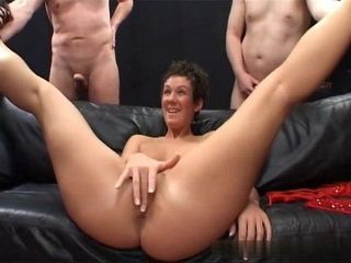 Extreme Bukkake With A Touch Of Anal Fucking