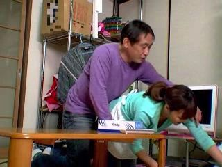 Perverted Japanese Dad Abusing Maid While Mom Was Not At Home