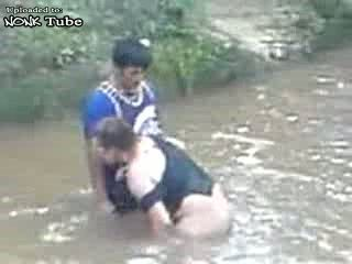 Indian Granny Wants To Fuck Boy In A River Infront Of Bunch Of People