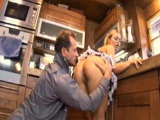 After Stressed Day At Work Rich Daddy Love The Most to Anal Fuck Our Busty Blonde Maid