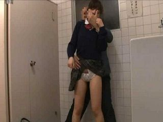 Japanese Girl Abused In Public Toilet By Police Officer