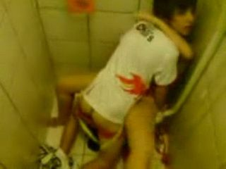 Teenagers Caught Fucking In A Toilet During A Party By Their Friends