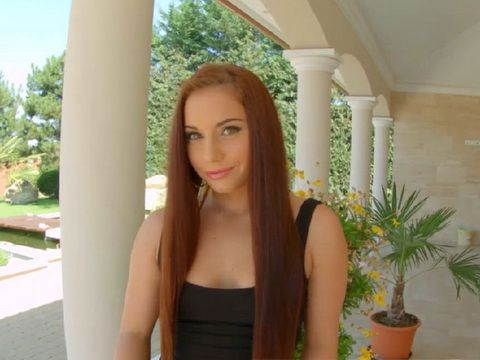 Cute Redhead Girl Meets With Neighbor To Have Fun