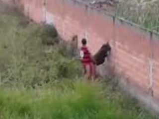 Teen Arab Fucking Her Classmate Over The Fence Surrounding Her Family Property