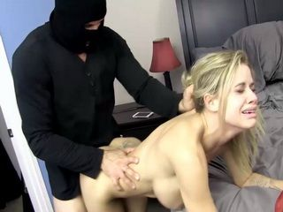 Hot Looking College Girl Gets Roughly Fucked By Masked Thief