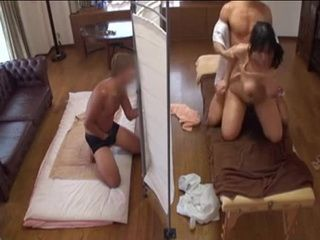 Husband Secretly Watches And Jerking Off While Busty Housewife Getting Fucked By Masseur