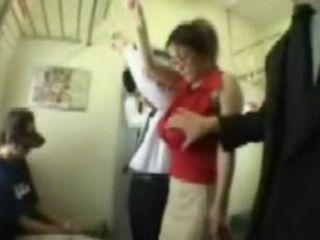 Big tits being Fondled on a Public Train