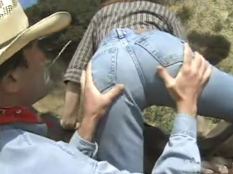 Creepy Rancher Knows How To Help Girl From City To Get On A Horse