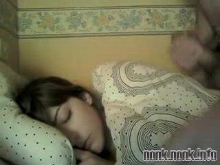 Sleeping Teen Gets Facial Cumshot