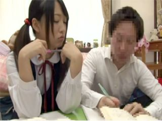 Pervert Mature Neighbor Offered His Help To A Teen Japanese Schoolgirl With Her Homework