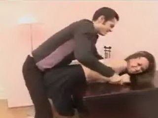Russian Slut Rough Fucked On The Table In The Office