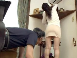 Dirty Old Man Has Benefited From Young Maid Beside Cleaning House