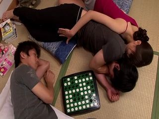 Slutty Sister Miku Aoki Abuse and Fuck Her Brothers Best Friend While Her Brother Sleeps