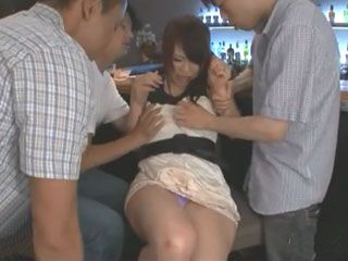 3 Drunken Punks Swooped Unprotected Girl Konishi Yuu In Bar And Took Advantage Of Her