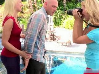 Sneaky Paparazzo Get Busted And Molested By Two Hotties