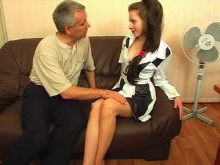 Mouthwatering Old Russian Piano Teacher Creampied His Naive New Student Girl