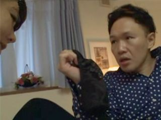 Japanese Mother Busted Her Stepson Jerking On Her Panties