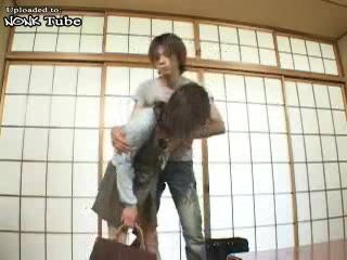 Japanese Boy Attack Sleeping Aunt to Fuck Her