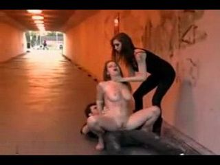 Bondage Whore Gets Rough Fuck In The Public