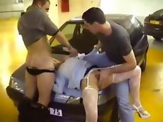 Blonde Woman Molested And Violated in Underground Garage